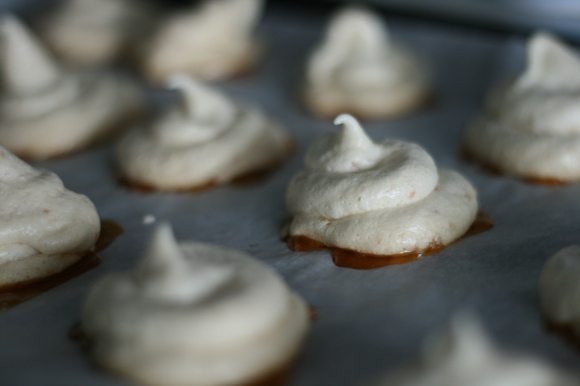 Peanut Meringue Cookies